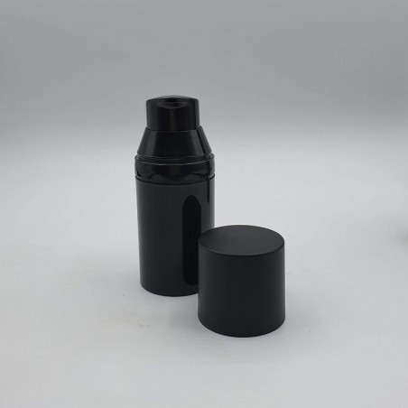 Airless Φιαλίδιο Μαύρο με Ματ καπάκι