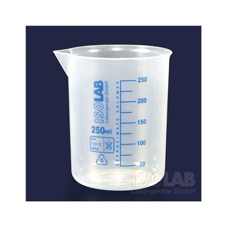 Ποτήρια Μέτρησης με Μπλε Διαγράμμιση Πλαστικά Isolab