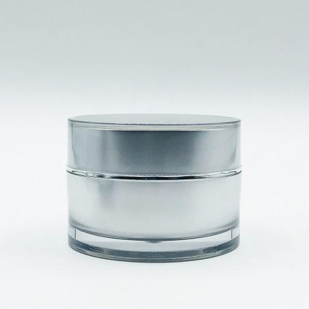 Ακρυλικό στρογγυλό βάζο Ασημί