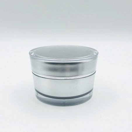Acrylic vase V shaped Silver