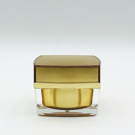 Acrylic square jar Gold