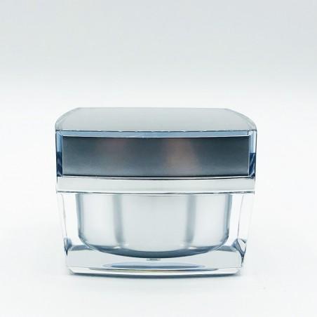 Acrylic square jar Silver