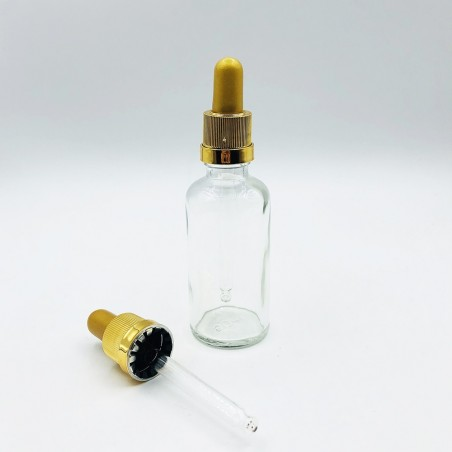 copy of Pharmaceutical Glass Vial F18 Brown W Gold Pipette (10 pcs)