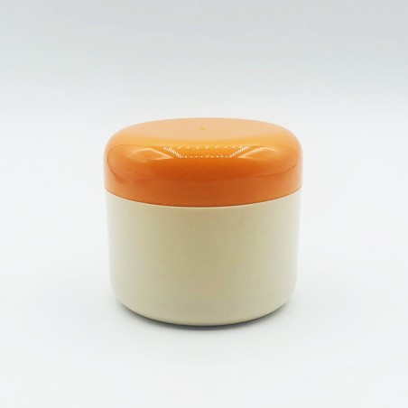 Lux Vases Cream W Orange Cup