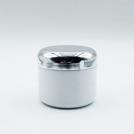 Lux Βάζα Λευκά με Ασημί Καπάκι