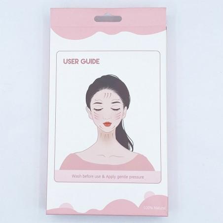 Συσκευή Μασάζ Ροζ Χαλαζία Jade Roller & Guasha
