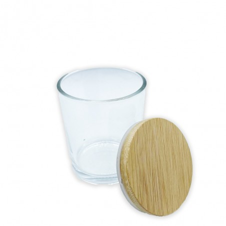 Βάζο για Κερί Διάφανο 220 ml