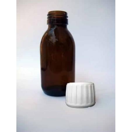 Λευκό Πώμα Ασφαλείας για Μπουκάλια Σιροπιού, Φ28